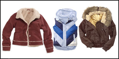 Lookin' for a sporty winter coat? Check these styles out!