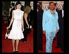 Both Maggie Gyllenhaal and Queen Latifah were heating up the world of fashion in 2003 with their stylish ensembles.