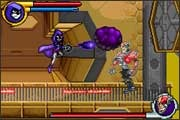 Raven kicks evil's butt in the Teen Titans video game for the Gameboy Advance from Majesco.