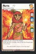 The Neopets card game has a Nuria card you can collect in the Lost Desert expansion set!