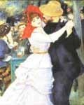 Dance at Bougival by Pierre-Auguste Renoir.