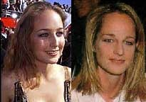 What do you think of this match with Leelee Sobieski & Helen Hunt? Were they separated at birth?