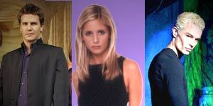 Pictures of Buffy, Spike and Angel courtesy of 20th Century Fox.
