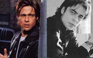What do you think of this match with Brad Pitt & Benicio Del Toro?  Were they separated at birth?