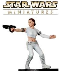 This Padme Amidala fig is a sneak peek from the Clone Strike expansion for the Star Wars Miniatures game!