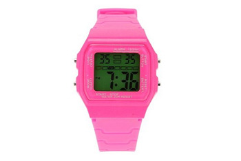 Digital plastic watch from UrbanOutfitters.com, $24