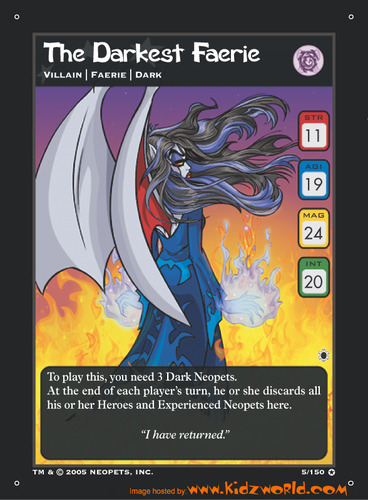 Neopets Card Game The Darkest Faerie Expansion Set