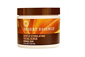 Desert Essence Gentle Stimulating Facial Scrub from Whole Foods or DesertEssence.com, $6.99