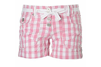 Gingham check shorts from NewLook.com, $15