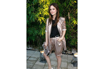Rachel Bilson in dressy long shorts
