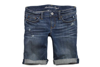 Skinny denim bermuda shorts from American Eagle, $29.50