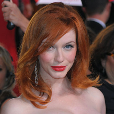 Christina Hendricks loves her blush!