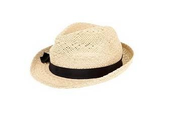 Open weave fedora with bow from UrbanOutfitters.com, $34