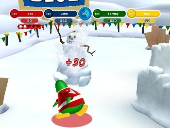 Club Penguin Game Day Snowball Battle