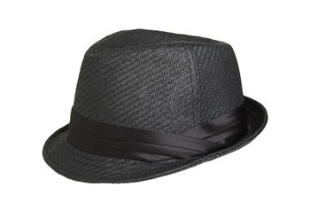 Satin trim fedora from ArdenB.com, $19.50