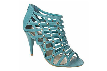 Caged dressy heel in blue from NewLook.com, $20