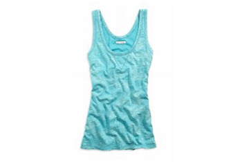 Slub tank in crushed teal from American Eagle, $15.50