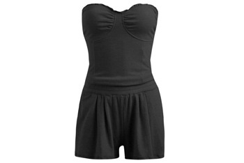 Knit Ruffle Romper from WetSeal, $16.50