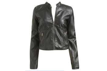 Quilted pad moto jacket from WetSeal.com, $36.50