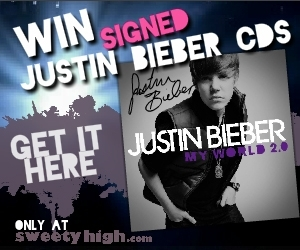 Justin Bieber Signed CD Contest