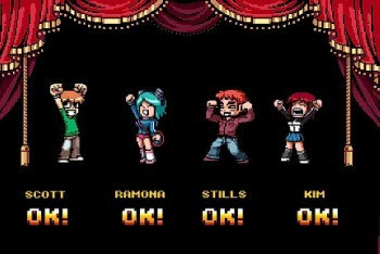 Scott Pilgrim vs. The World Character select screen Super Mario Bros. 2 reference