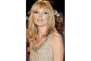 Kate Moss' textured bangs