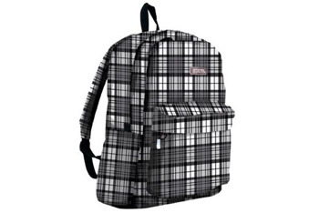 Black and white plaid backpack from JWorld, $20