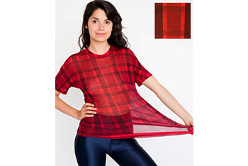 Short sleeve plaid tshirt from AmericanApparel.net, $32