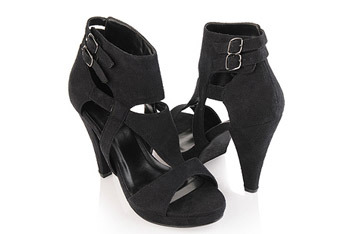 Suedette cut out heels from Forever21.com, $20.80