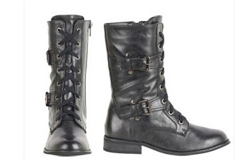 Wanted Tillys Lace-up boots in black from Delias.com, $59.50