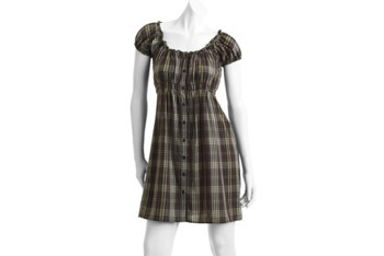 Juniors plaid button down dress from WalMart.com, $10