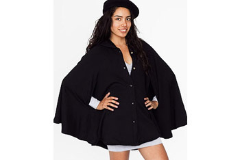 California fleece cape from AmericanApparel.net, $65