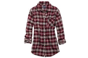 Plaid boyfriend shirt from AmericanEagle.com, $39.50