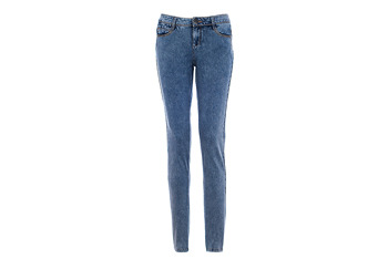 Denim knit jeggings from Superlooks.com, $15