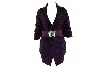 Belted knitted cardigan from Superlooks.com, $25