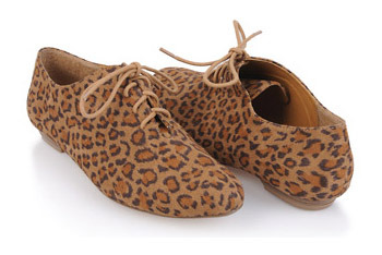 Wild cheetah oxfords from Forever21.com, $24.80