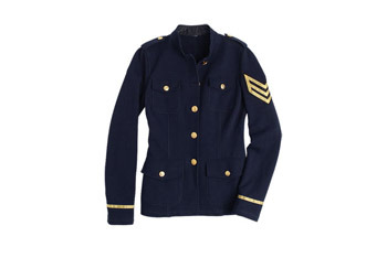 Maisie army sweatshirt jacket from Delias.com, $49.50