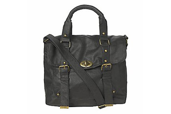 Twist lock satchel from NewLook.com, $40