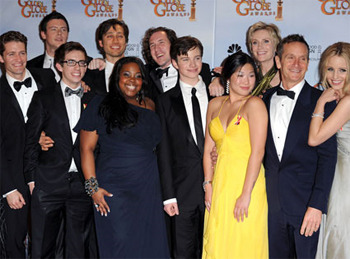 The Cast of Glee at the Golden Globe Awards