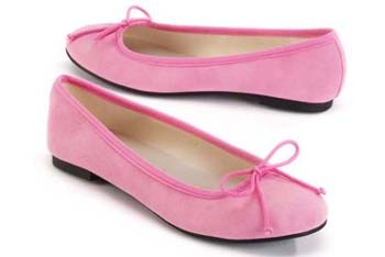 Nicole sueded ballet flats from WalMart.com, $6