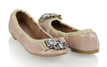 Patent leatherette ballet flats from Forever21.com, $16.80
