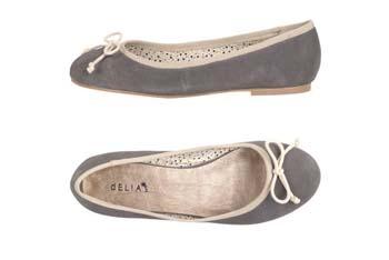 Matilda suede ballet flat from Delias.com, $49.50