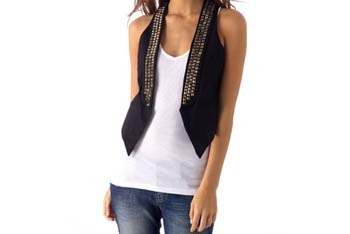 Studded black vest from Alloy.com, $36.90