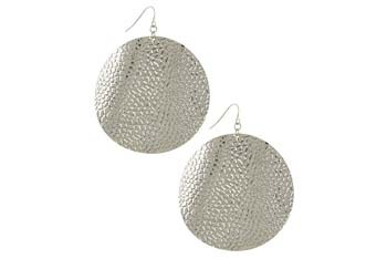 Reptile texture metal earrings from Forever21.com, $3.80