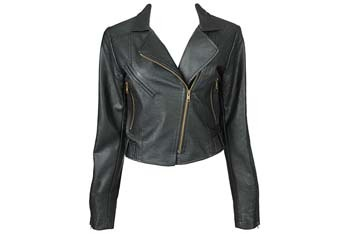 Cropped faux leather jacket from Forever21.com, $39.80
