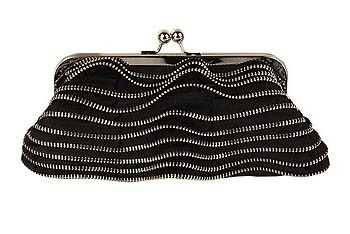 Wavy zipper clutch from Forever21.com, $12.80
