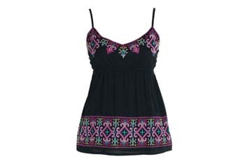 Lydia cross stitch cami from Delias.com, $34.50