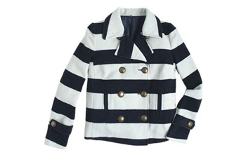 Chloe striped peacoat from Delias.com, $99