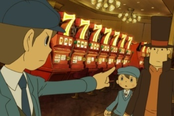 Professor Layton and the Unwound Future Layton and Luke meets Future Luke