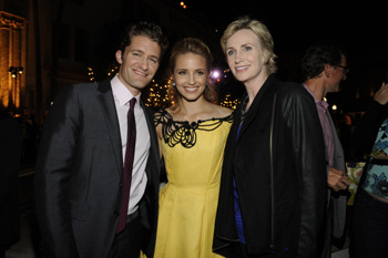 Matthew Morrison, Dianna Agron and Jane Lynch
